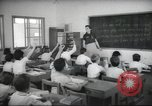 Image of Jewish children receiving instruction at Bialik Hebrew Day School Palestine, 1945, second 9 stock footage video 65675064275