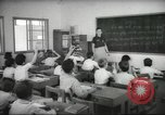 Image of Jewish children receiving instruction at Bialik Hebrew Day School Palestine, 1945, second 10 stock footage video 65675064275