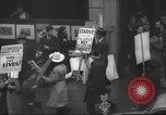 Image of American protesters New York City USA, 1937, second 7 stock footage video 65675064295