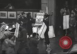 Image of American protesters New York City USA, 1937, second 8 stock footage video 65675064295