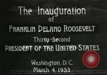 Image of Franklin Delano Roosevelt inauguration 1933 Washington DC USA, 1933, second 3 stock footage video 65675064318