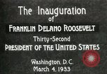 Image of Franklin Delano Roosevelt inauguration 1933 Washington DC USA, 1933, second 4 stock footage video 65675064318