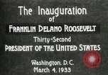 Image of Franklin Delano Roosevelt inauguration 1933 Washington DC USA, 1933, second 5 stock footage video 65675064318
