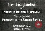 Image of Franklin Delano Roosevelt inauguration 1933 Washington DC USA, 1933, second 7 stock footage video 65675064318