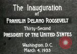 Image of Franklin Delano Roosevelt inauguration 1933 Washington DC USA, 1933, second 8 stock footage video 65675064318