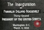 Image of Franklin Delano Roosevelt inauguration 1933 Washington DC USA, 1933, second 9 stock footage video 65675064318