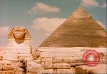 Image of Sphinx guarding Khafre pyramid Egypt, 1951, second 7 stock footage video 65675064341