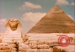 Image of Sphinx guarding Khafre pyramid Egypt, 1951, second 8 stock footage video 65675064341