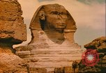 Image of Sphinx guarding Khafre pyramid Egypt, 1951, second 9 stock footage video 65675064341
