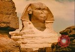 Image of Sphinx guarding Khafre pyramid Egypt, 1951, second 11 stock footage video 65675064341