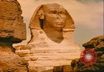 Image of Sphinx guarding Khafre pyramid Egypt, 1951, second 12 stock footage video 65675064341