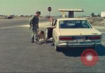 Image of Marijuana detection dog San Diego California USA, 1975, second 12 stock footage video 65675064379