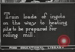 Image of iron and steel factory United States USA, 1922, second 4 stock footage video 65675064416