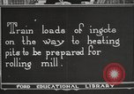 Image of iron and steel factory United States USA, 1922, second 7 stock footage video 65675064416