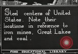 Image of steel factory United States USA, 1922, second 2 stock footage video 65675064418