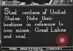 Image of steel factory United States USA, 1922, second 4 stock footage video 65675064418