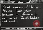 Image of steel factory United States USA, 1922, second 10 stock footage video 65675064418