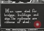 Image of iron and steel United States USA, 1922, second 3 stock footage video 65675064419