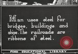 Image of iron and steel United States USA, 1922, second 4 stock footage video 65675064419