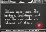 Image of iron and steel United States USA, 1922, second 5 stock footage video 65675064419