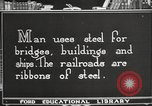 Image of iron and steel United States USA, 1922, second 8 stock footage video 65675064419