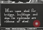 Image of iron and steel United States USA, 1922, second 9 stock footage video 65675064419