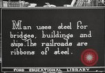 Image of iron and steel United States USA, 1922, second 11 stock footage video 65675064419