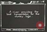 Image of lumber industry United States USA, 1920, second 10 stock footage video 65675064424