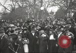 Image of Armistice Day parade with Woodrow Wilson and flamboyant drum major Washington DC USA, 1918, second 8 stock footage video 65675064442