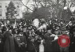 Image of Armistice Day parade with Woodrow Wilson and flamboyant drum major Washington DC USA, 1918, second 12 stock footage video 65675064442