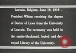 Image of Woodrow Wilson Louvain Belgium, 1919, second 7 stock footage video 65675064451