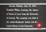 Image of Woodrow Wilson Louvain Belgium, 1919, second 8 stock footage video 65675064451