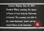 Image of Woodrow Wilson Louvain Belgium, 1919, second 9 stock footage video 65675064451