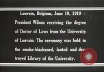 Image of Woodrow Wilson Louvain Belgium, 1919, second 10 stock footage video 65675064451