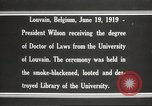 Image of Woodrow Wilson Louvain Belgium, 1919, second 11 stock footage video 65675064451