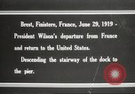 Image of Woodrow Wilson returning to America after signing treaty Brest France, 1919, second 6 stock footage video 65675064455