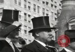 Image of President Woodrow Wilson wearing  top hat in an open car United States USA, 1916, second 5 stock footage video 65675064461