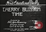 Image of Cherry Blossom Time Japan, 1920, second 4 stock footage video 65675064488