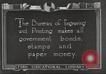 Image of Bureau of Engraving and Printing Washington DC USA, 1921, second 1 stock footage video 65675064510