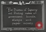 Image of Bureau of Engraving and Printing Washington DC USA, 1921, second 3 stock footage video 65675064510