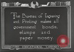 Image of Bureau of Engraving and Printing Washington DC USA, 1921, second 4 stock footage video 65675064510