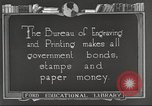 Image of Bureau of Engraving and Printing Washington DC USA, 1921, second 8 stock footage video 65675064510