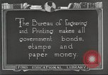 Image of Bureau of Engraving and Printing Washington DC USA, 1921, second 9 stock footage video 65675064510