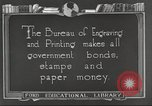 Image of Bureau of Engraving and Printing Washington DC USA, 1921, second 10 stock footage video 65675064510