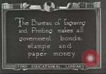 Image of Bureau of Engraving and Printing Washington DC USA, 1921, second 11 stock footage video 65675064510