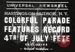 Image of ongoing parade New York United States USA, 1939, second 1 stock footage video 65675064537