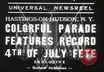Image of ongoing parade New York United States USA, 1939, second 2 stock footage video 65675064537