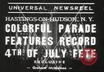 Image of ongoing parade New York United States USA, 1939, second 5 stock footage video 65675064537