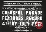 Image of ongoing parade New York United States USA, 1939, second 7 stock footage video 65675064537