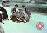 Image of evacuating civilians Europe, 1945, second 9 stock footage video 65675064577